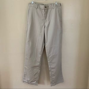 George Flat Front Cotton Tan Straight Fit Pants 14